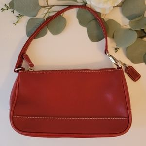 Coach Small Red leather  shoulder bag